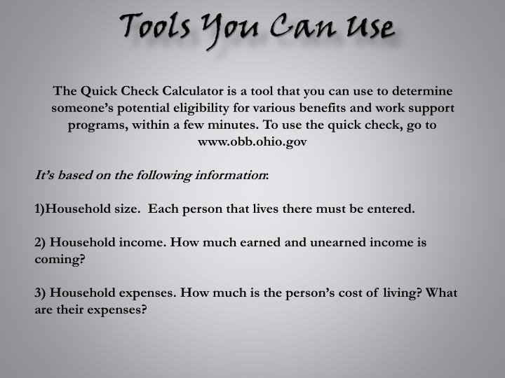Tools You Can Use