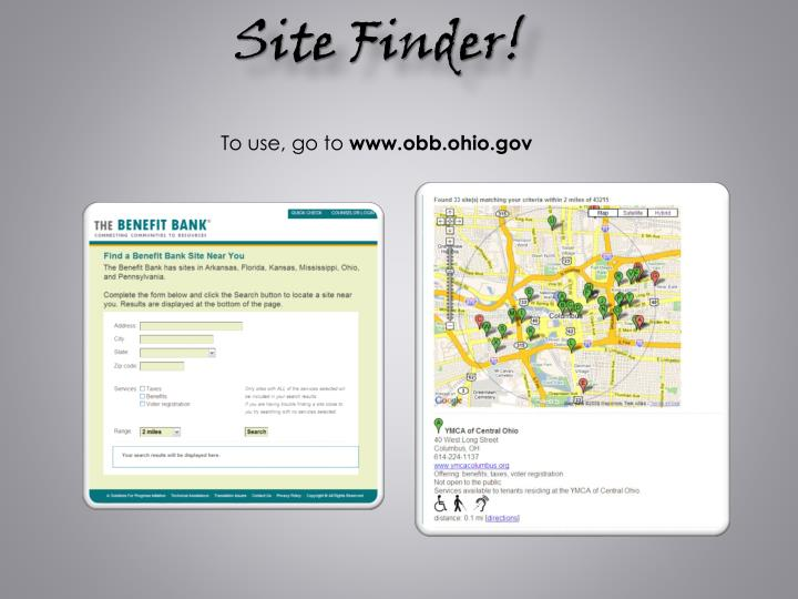 Site Finder!