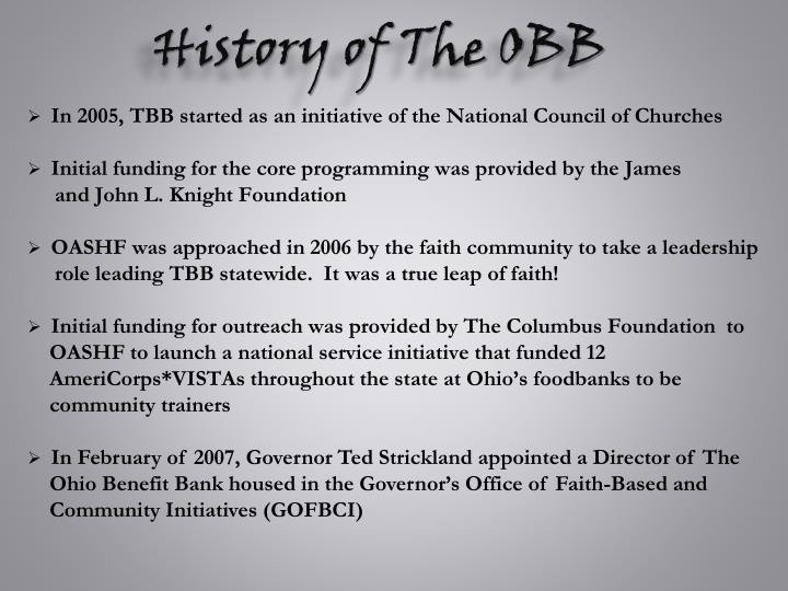 History of The OBB
