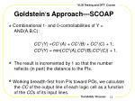 goldstein s approach scoap1