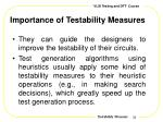 importance of testability measures