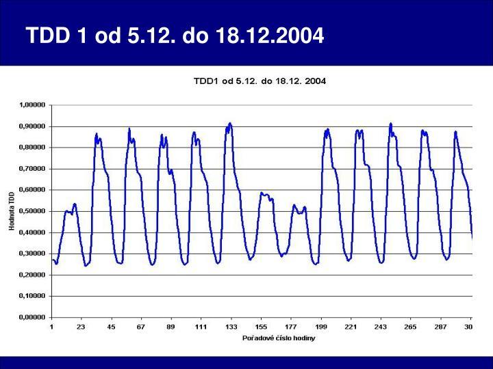 TDD 1 od 5.12. do 18.12.2004