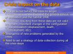 crisis impact on the data