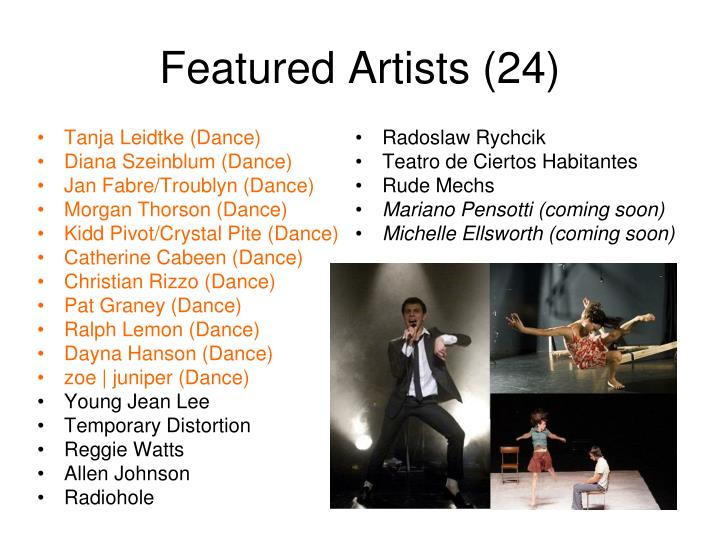 Featured artists 24