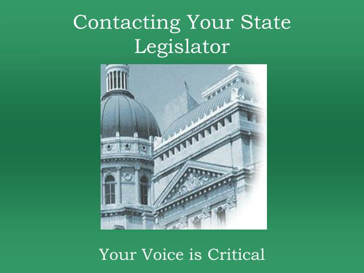 Contacting Your State Legislator
