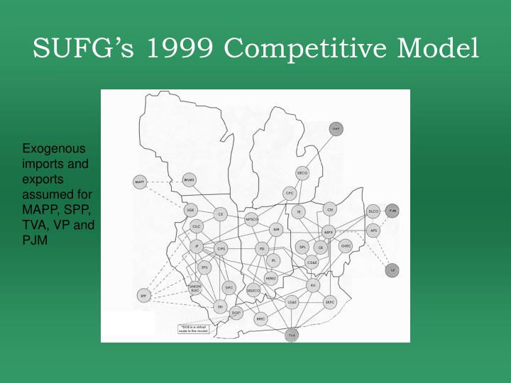 SUFG's 1999 Competitive Model