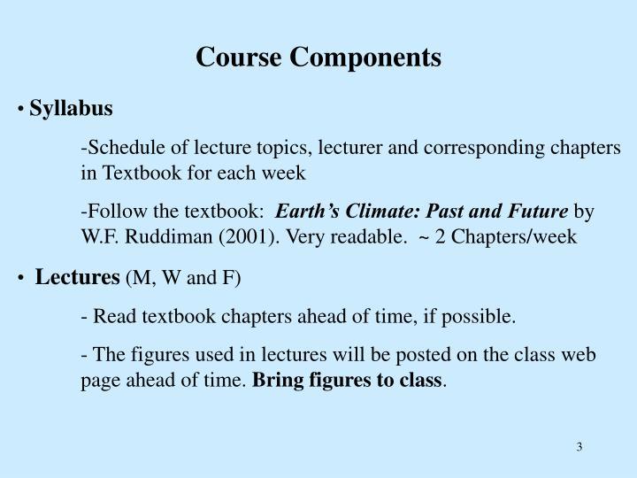Course components