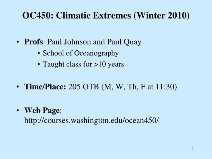 Oc450 climatic extremes winter 2010