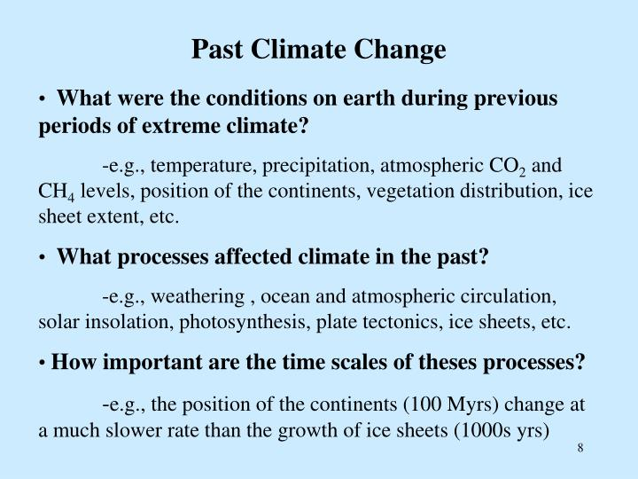 Past Climate Change