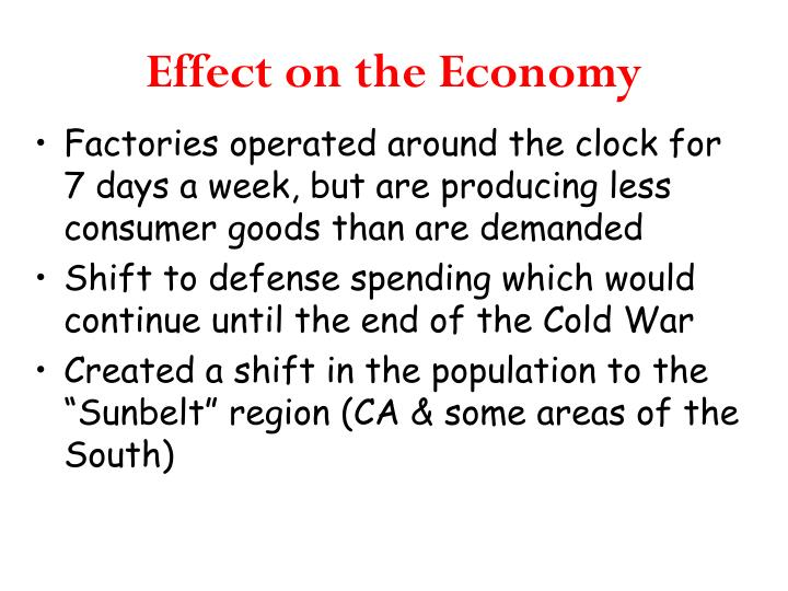 Effect on the Economy