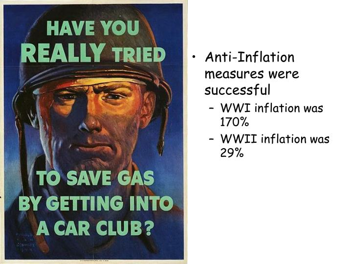 Anti-Inflation measures were successful