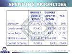spending priorities
