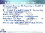 strategic context cont