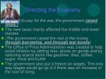 directing the economy