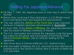 halting the japanese advance