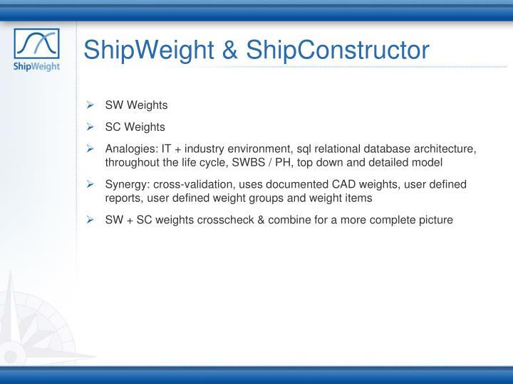 ShipWeight & ShipConstructor