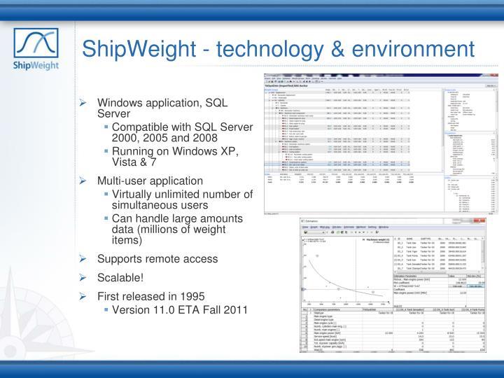 ShipWeight - technology & environment