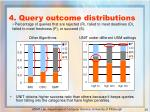 4 query outcome distributions