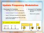 update frequency modulation
