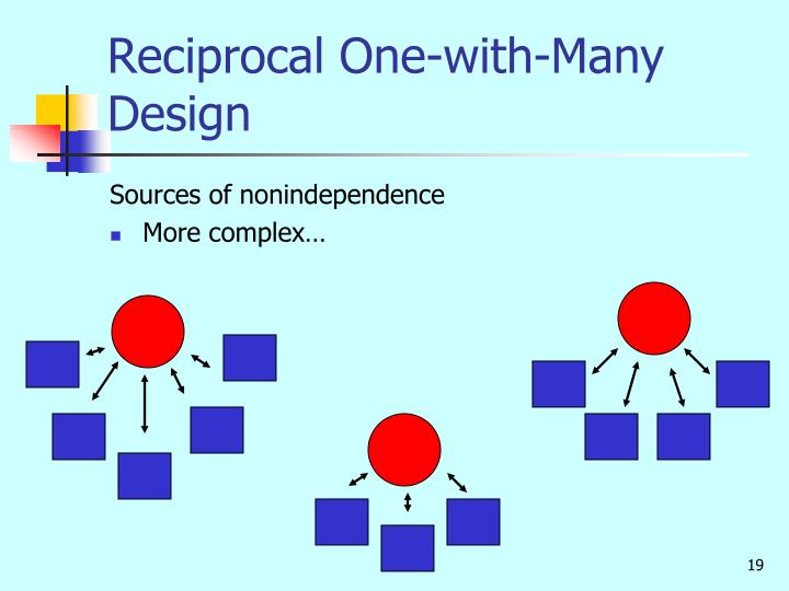 Reciprocal One-with-Many Design