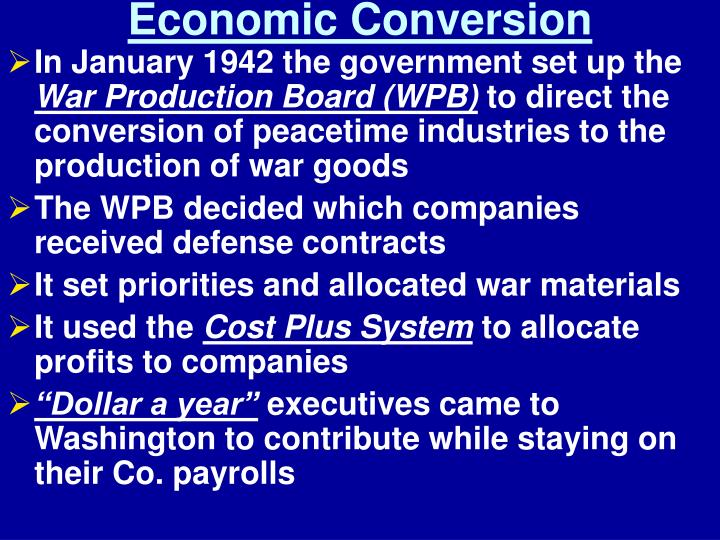 Economic Conversion