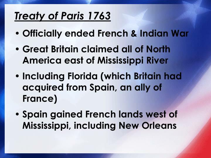 Treaty of Paris 1763