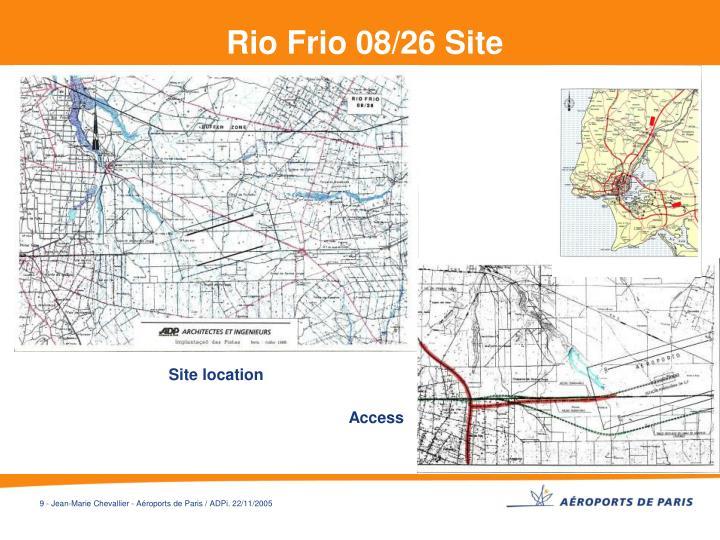 Rio Frio 08/26 Site