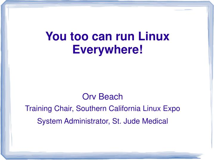 orv beach training chair southern california linux expo system administrator st jude medical n.