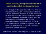 deficits following nonoperative treatment of displaced midshaft clavicular fractures1