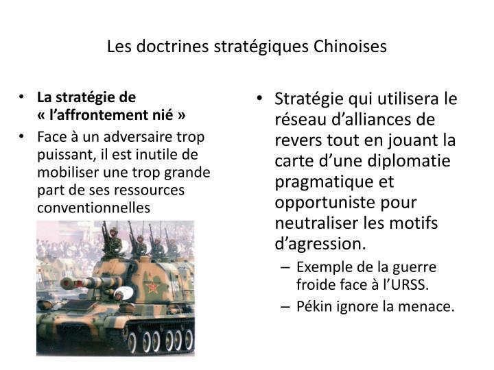 Les doctrines stratégiques Chinoises
