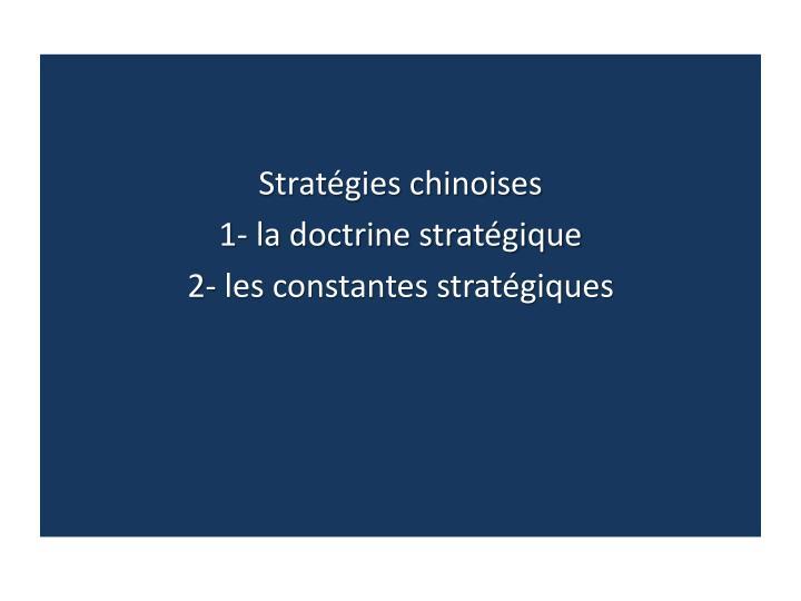 Stratégies chinoises