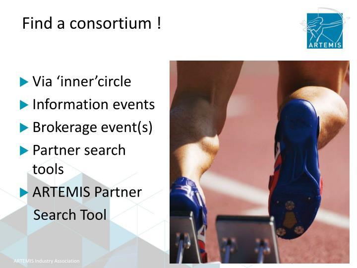 Find a consortium !