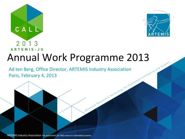 Annual Work Programme 2013