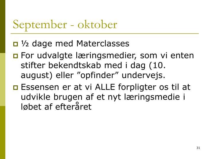 September - oktober