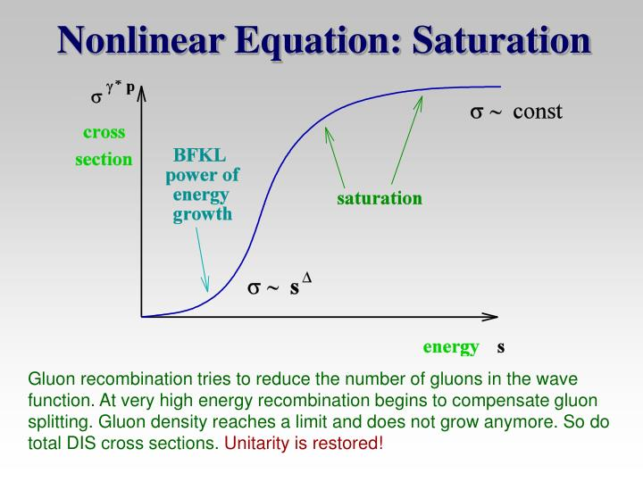 Nonlinear Equation: Saturation