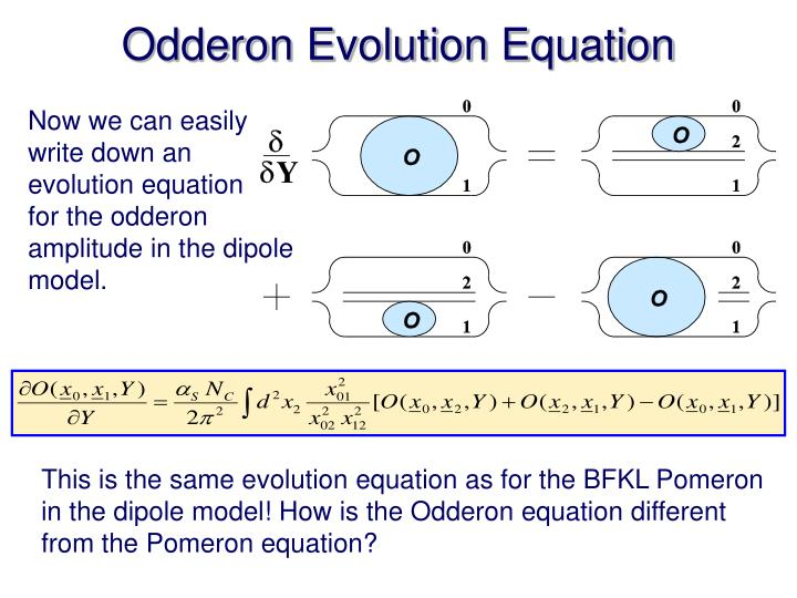 Odderon Evolution Equation