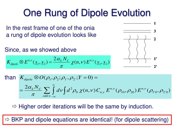 One Rung of Dipole Evolution