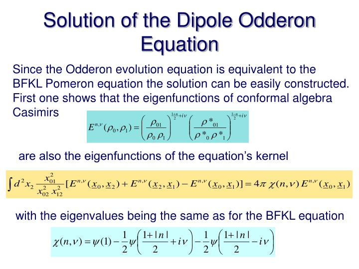 Solution of the Dipole Odderon Equation