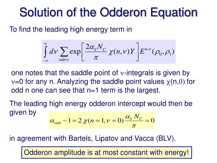 Solution of the Odderon Equation