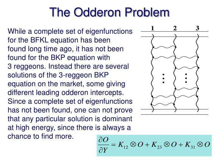 The odderon problem