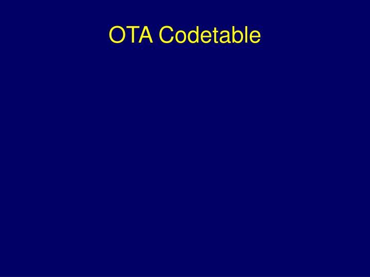 OTA Codetable