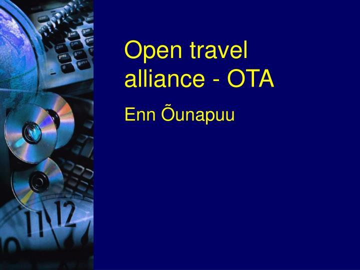 Open travel alliance - OTA