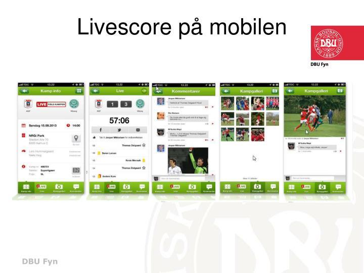 Livescore på mobilen