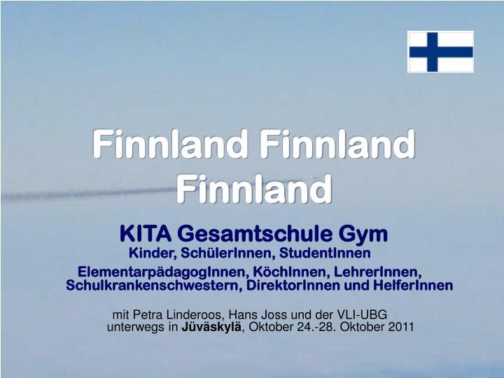 Finnland finnland finnland kita gesamtschule gym