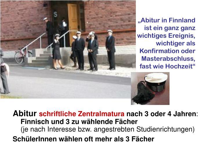 """""""Abitur in Finnland"""