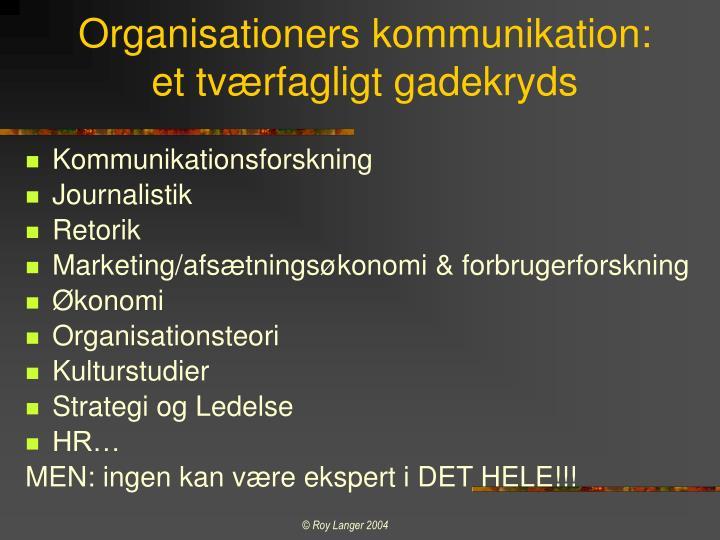 Organisationers kommunikation:
