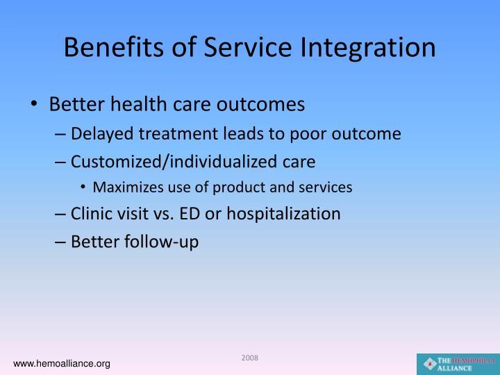 Benefits of Service Integration