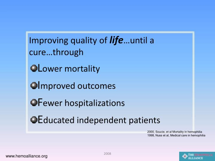 Improving quality of