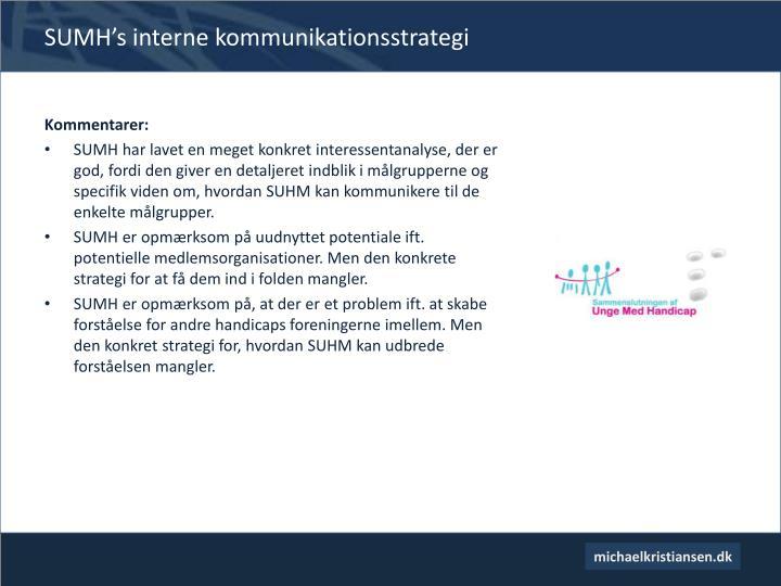 SUMH's interne kommunikationsstrategi