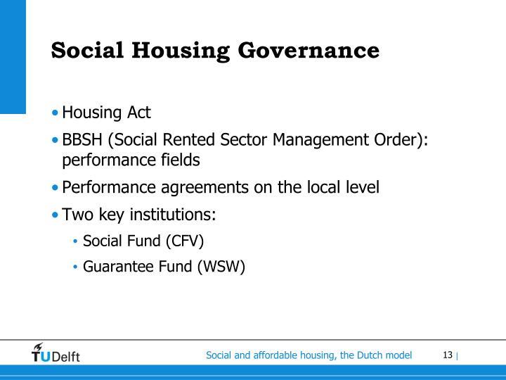 Social Housing Governance